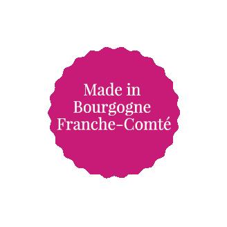 Etiquette promotion Made in Bourgogne Franche Comté